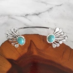 Faux Turquoise Sunburst Bracelet